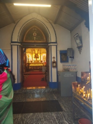 Entrance of the La Salette Church. Kodaikanal