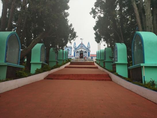 Front view, La salette Church, Kodaikanal