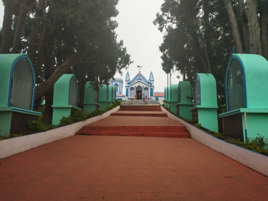 Front view, La salette Church, Kodaikanal
